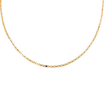 "Veronese 18K Clad 20"" Polished Rectangular LinkChain - J304671"