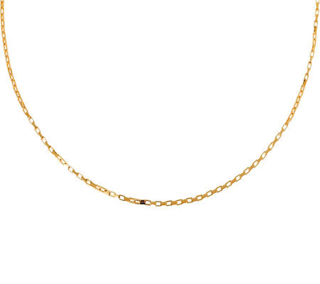 "Veronese 18K Clad 20"" Polished Rectangular LinkChain"