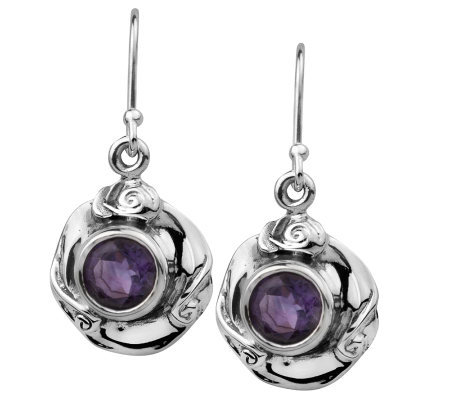 Hagit Gorali 1.70 ct tw Amethyst Round Earrings , Sterling