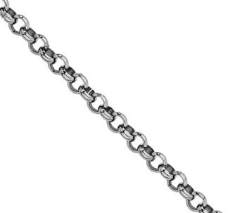 "Stainless Steel 36"" Rolo Chain Necklace - J305671"