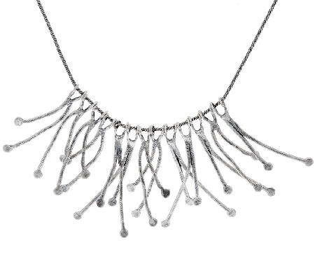 Sterling Silver Branch Statement Necklace by Or Paz