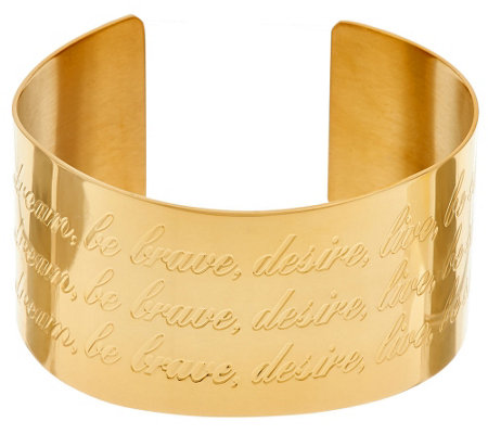 Stainless Steel Inspirational Extra Bold Cuff