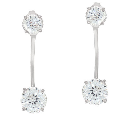 Diamonique Earring Jackets, Sterling or 14K Clad