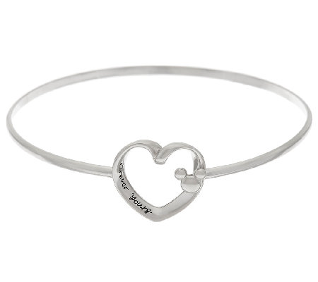 Disney Sterling Silver Motif Catch Bangle