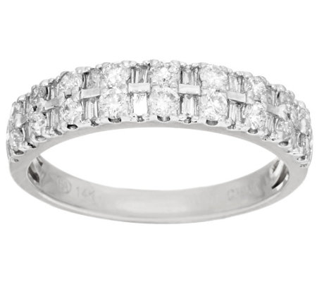 """As Is"" Round & Baguette Diamond Ring 14K, 1/2 cttw by Affinity"