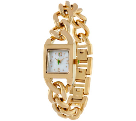C. Wonder Mother-of-Pearl Dial Curb Link Bracelet Watch