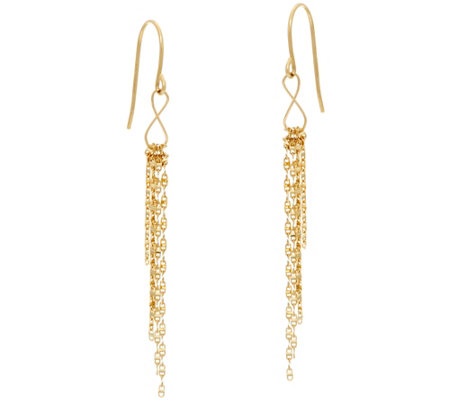 Tassel Design Earrings 14K Gold