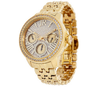 Judith Ripka Stainless Steel Diamonique Multi-Function Watch - J333071