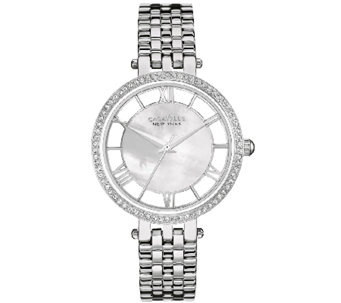 Caravelle New York Women's Silvertone Crystal Bracelet Watch - J339771