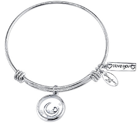 Extraordinary Life Sterling Love Shaker Charm Bangle