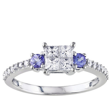 1/2 cttw Diamond & Tanzanite Ring, 14K Gold, byAffinity