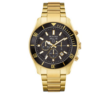 Bulova Men's Chronograph Marine Star Goldtone Watch - J343571
