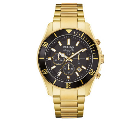 Bulova Men's Chronograph Marine Star Goldtone Watch