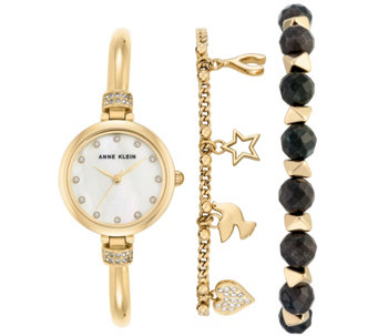 Anne Klein Women's Goldtone Watch and BraceletSet - J344771