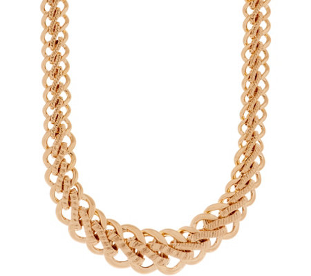 "Italian Gold 18"" Bold Woven Necklace 14K Gold, 31.4g"
