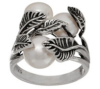 Or Paz Sterling Silver Triple Cultured Pearl Ring - J351571