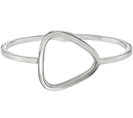 Sterling Open Triangle Hinged Bangle, 9.6g by Silver Style