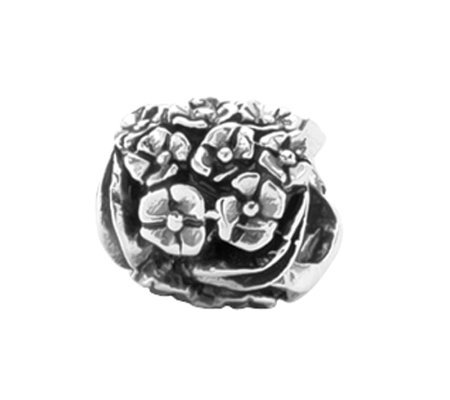Prerogatives Sterling Floral Bead
