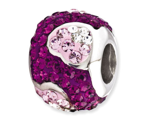 Prerogatives Sterling Purple Crystal Heart Bead