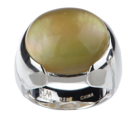 RLM Studio Sterling Mother-of-Pearl Doublet Ring