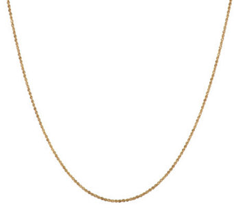 "VicenzaGold 36"" Dimensional Diamond Cut Rope Chain 14K Gold, 2.5g - J274872"