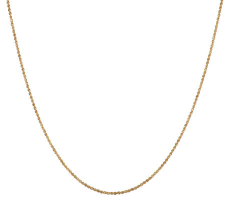 "VicenzaGold 36"" Dimensional Diamond Cut Rope Chain 14K Gold, 2.5g"