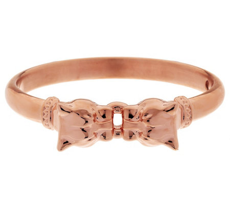 Oro Nuovo Avg. Polished Interlocking Panther Head Bangle, 14K
