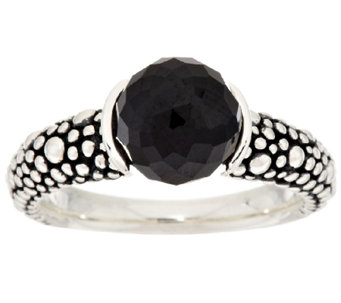 Michael Dawkins Starry Night Sterling 4.50ct tw Black Spinel Band Ring - J295272