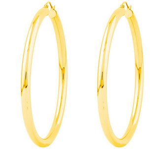 "Polished 2-3/8"" Round Hoop Earrings, 14K - J308672"