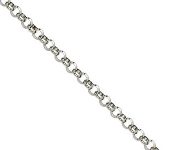 "Stainless Steel 4.6mm 36"" Rolo Chain Necklace - J308872"
