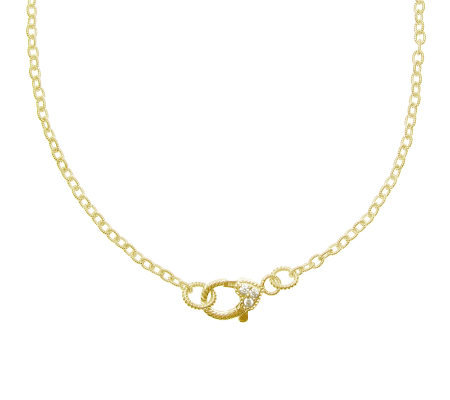 "Judith Ripka Lexington 22"" Chain Necklace, Sterling 14K Clad"