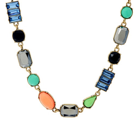 LOGO Links by Lori Goldstein Multi-Shape Stone Necklace