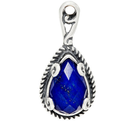 Carolyn Pollack Gemstone Doublet Sterling Silver Charm
