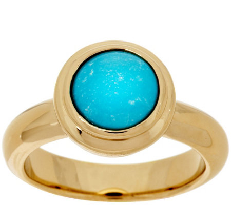 """As Is"" 14K Gold Sleeping Beauty Turquoise Polished Ring"