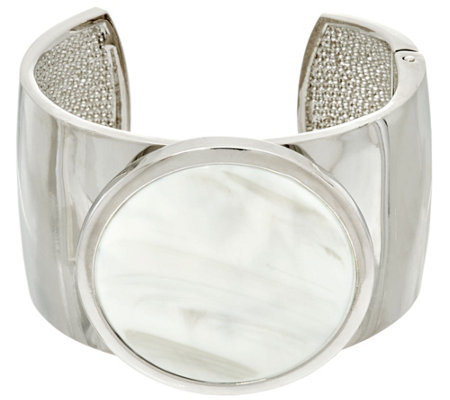"""As Is"" H by Halston Bold Cuff with Hinge Closure"