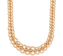 "Italian Gold 20"" Bold Woven Necklace, 14K Gold, 34.4g - J350972"