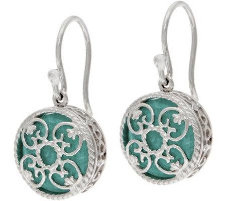 """As Is"" DeLatori Sterl. Silver 7.60 cttw Gemstone Drop Earrings"