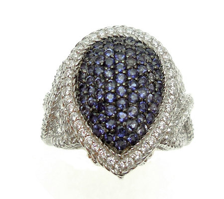 Judith Ripka Sterling & Iolite Pave Ring