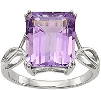 Sterling Octagon Shaped Gemstone Ring - J378172