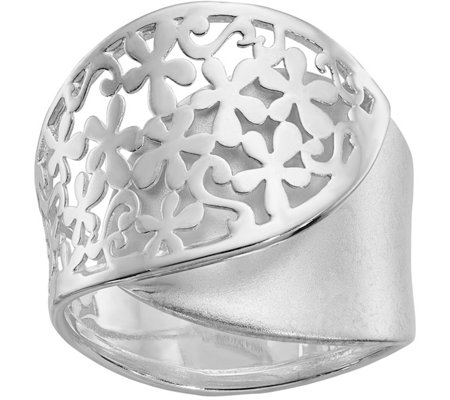Sterling Flower-Design Ring