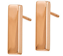 14K Gold Polished Bar Post Earrings - J381672