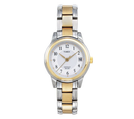 Timex Women's Classic Dress Watch with Two-toneBracelet