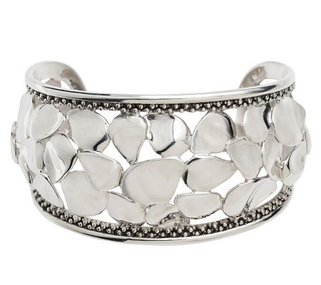 Michael Dawkins Sterling Petal Cuff with Granulation Detail