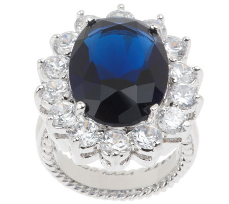 Kenneth Jay Lane's Princess Simulated Sapphire Ring
