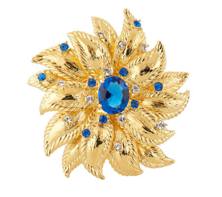 Jacqueline Kennedy Sunflower Brooch