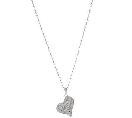 Killarney Crystal SterlingSilver Heart Pendant Necklace