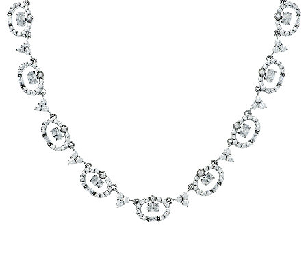 Judith Ripka Sterling 18.60 ct tw Diamonique 118 Facet Necklace
