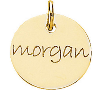 Posh Mommy 18K Gold-Plated Mini Disc Pendant - J300073