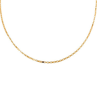 "Veronese 18K Clad 24"" Polished Rectangular LinkChain - J304673"