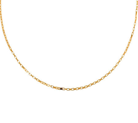 "Veronese 18K Clad 24"" Polished Rectangular LinkChain"